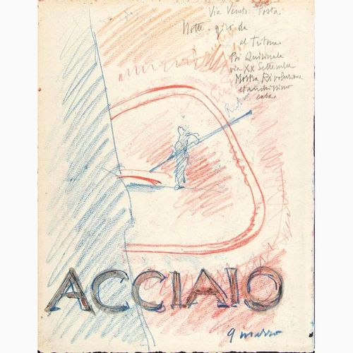 ANSELMO BUCCI  Fossombrone, 1887 Monza, 1955 Steel, 1930's Pastels and watercolo…