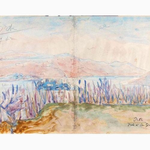 ANSELMO BUCCI  Fossombrone, 1887 Monza, 1955 Orta, Isola di San Giulio Pencil, b…
