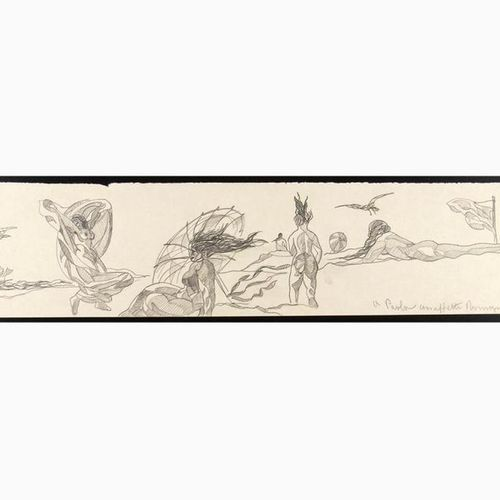 ROMANO DAZZI  Rome, 1905 La Lima, 1976 Three drawings with a study of nudes, 192…