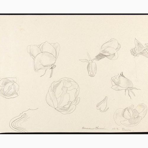 ROMANO DAZZI  Rome, 1905 La Lima, 1976 Five drawings with a study of Figures, 19…