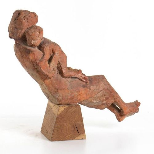 QUINTO MARTINI  Seano, 1908 Florence, 1990 Lullaby, 1947 50 Terracotta sculpture…