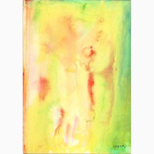 ANTONIO CORPORA  Tunisi, 1909 Rome, 2004 Dawn in the Desert, 1995 Watercolor on …