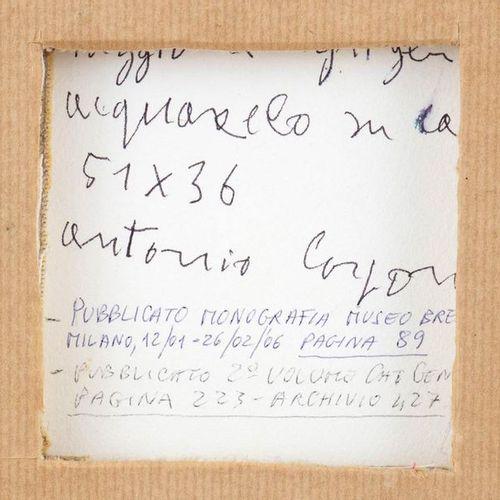 ANTONIO CORPORA  Tunisi, 1909 Rome, 2004 May in Agrigento, 1995 Watercolor on pa…