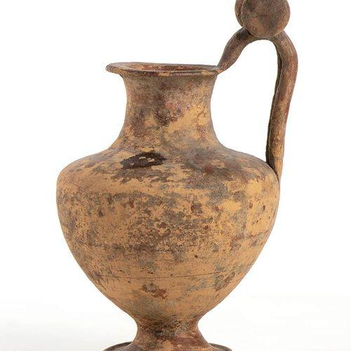 OLPE A ROTELLE MAGNOGRECA VI V secolo a.C. Alt. Massima cm 22,5 Integra. Dalla c…