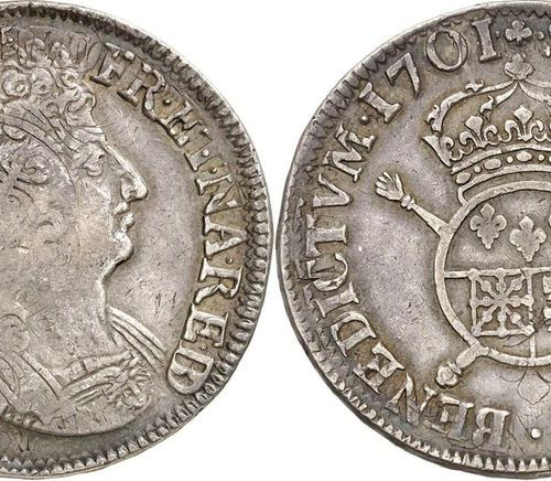 France Louis XIV (1643 1715)  Béarn shield with insignia 1701 Pau Reformation.  …