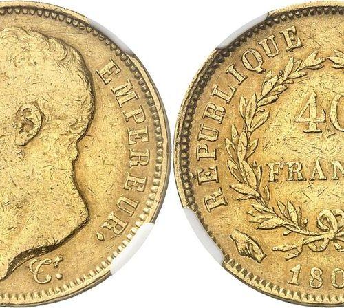 France Napoleon I (1804 1814)  40 gold francs 1807 I Limoges Strike medal.  Of a…