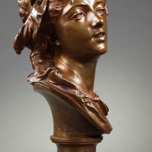 """Auguste RODIN """"Suzon"""" Epreuve en Bronze, fonte d'édition ancienne à patine brune…"""