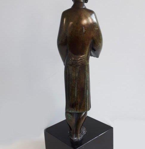"""Joseph CSAKY """"LA Sébile"""" 1926 Epreuve en Bronze, fonte d'édition à patine, cache…"""