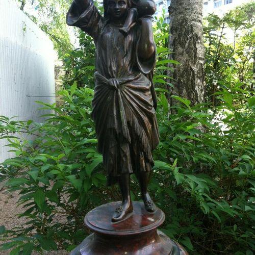 """Anonyme """" Porteuse d'eau"""" Epreuve en bronze, fonte d'édition ancienne à patine b…"""