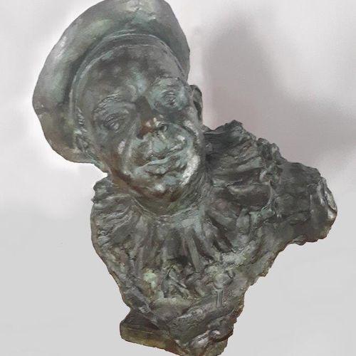"""Antoine BOURDELLE (1861 1929) """"Buste de Coquelin Ainé en Crispin le clown"""" Bronz…"""
