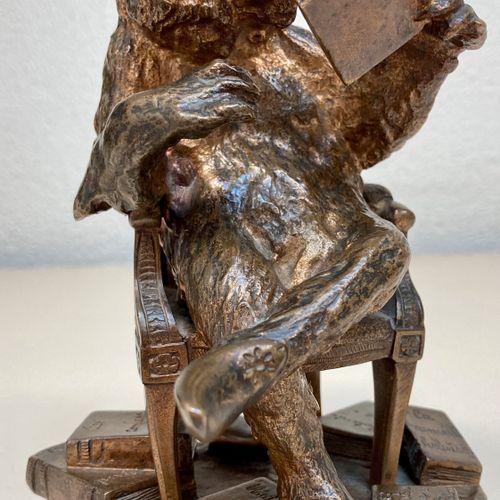 """Christophe FRATIN """"Ours philosophe"""" Epreuve en Bronze, fonde d'édition ancienne …"""