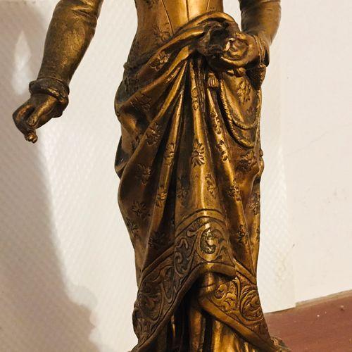 """GAUDEZ """"La Bonté"""" Epreuve en Bronze, fonte d'édition ancienne à patine mordorée,…"""