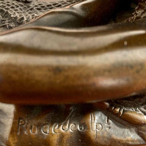 """RUDE """"Pêcheur napolitain à la tortue"""" Epreuve en Bronze, fonte d'édition ancienn…"""