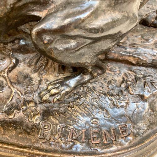 """Pierre Jules MENE """"Chasse à la perdrix"""" Epreuve en bronze, fonte d'édition ancie…"""