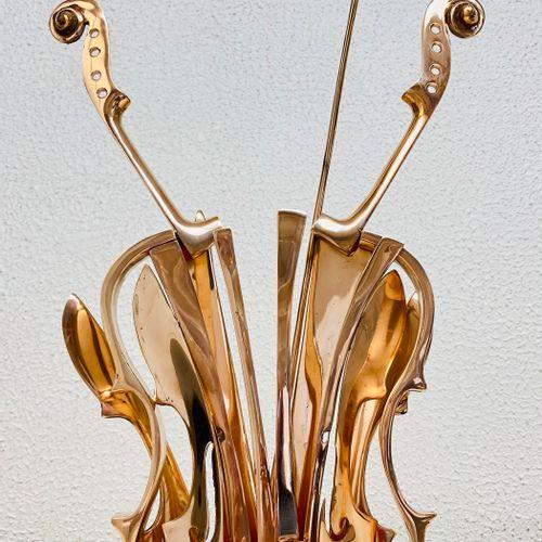 """Fernand ARMAN """"Violon doré"""" Epreuve en Bronze, fonte d'édition multiple, signée …"""