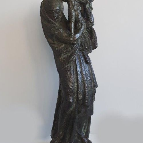"""Antoine BOURDELLE (1861 1929) """" Maternité"""" Epreuve en bronze, fonte d'édition or…"""
