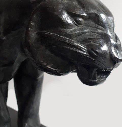 """Joachim COSTA (1888 1971) """"Félin en marche"""" Epreuve en Bronze, fonte d'édition à…"""