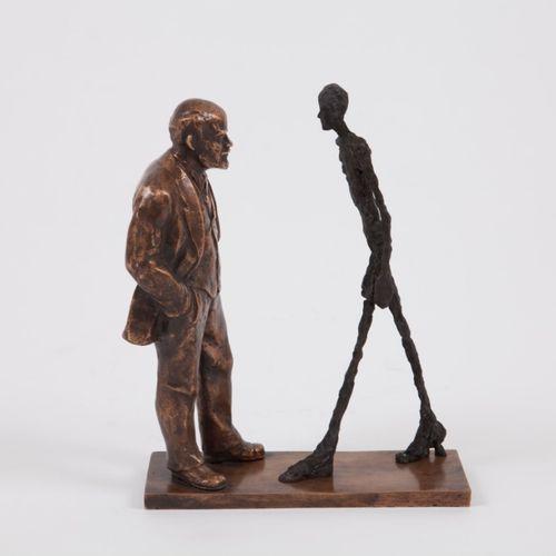 "Leonid SOKOV ""Meeting of two sculptures : Lénine et Giacometti"" 1997 Epreuve en …"