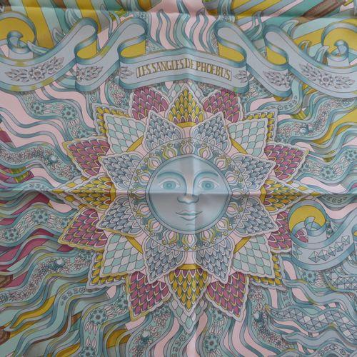 HERMES, Les sangles de Phoebus : Carré pure soie, dessin de Joachim METZ 90x90cm