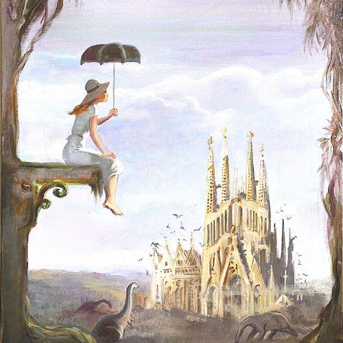 Jean François CHARLES Illustration originale très grand format à l'acrylique sur…