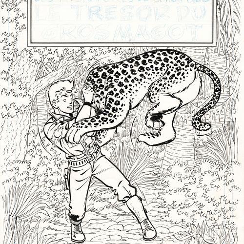 TIBET Chick Bill, Le Trésor du Gros Magot, couverture originale à l'encre de chi…