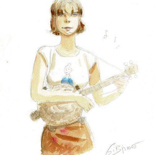 Jean Pierre GIBRAT Le Sursis, Cécile, dessin original à l'aquarelle et à la mine…