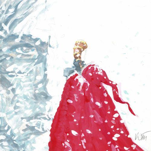 ROSINSKI Thorgal, Le maître des montagnes, projet de couverture original à l'aqu…