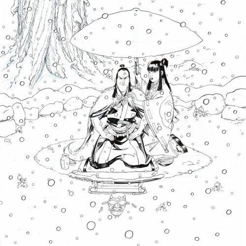 HUB Okko, Le Cycle du vide II, sehr großformatiges Original Cover in Tusche für …