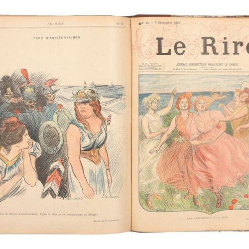 [Revue] Le Rire, a humorous newspaper published on Saturdays.  12 in 4° volumes,…
