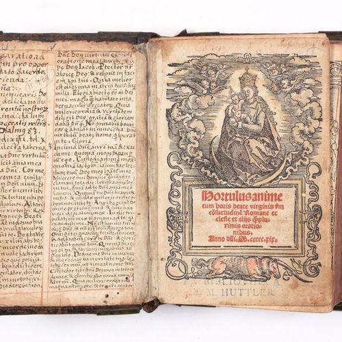 [LITURGIE] Hortulus Animae, cum horis beate Virginis  8vo (149 x 98 mm), [20] + …