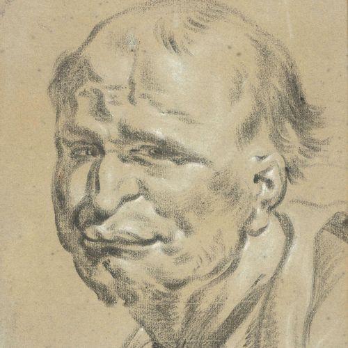 GAREMYN, Jan (1712 1799) Hoofd van oude man (1745)  Tekening (30.5 x 25.5 cm) in…