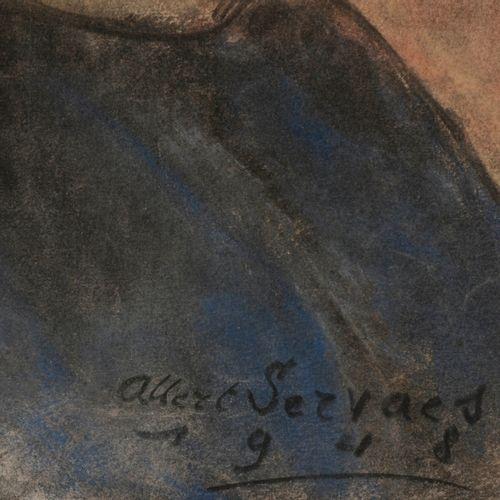 SERVAES, Albert (1883 1966) Portret van een jong meisje (1948)  Pastel (50 x 39 …