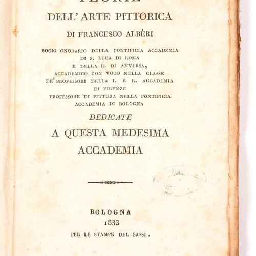 ALBERI, Francesco Teorie dell'arte pittorica di Francesco Alberi socio onorario …