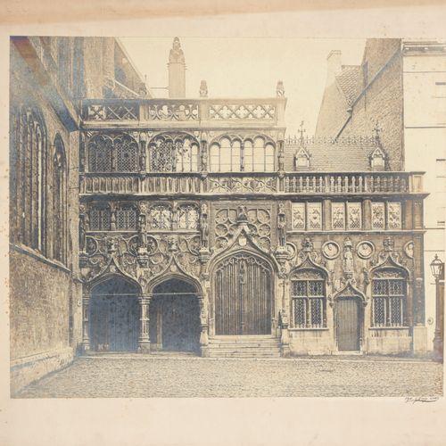 D'HOY, C. Voorgevel van de Heilige Bloedbasiliek te Brugge  Albumen print (50 x …