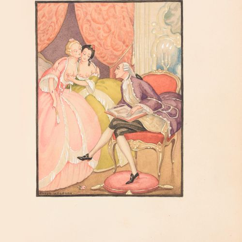 [WEGENER, Gerda] CASANOVA de SEINGALT, Giacomo Une aventure d'amour à Venise... …