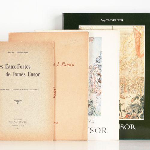 [ENSOR] Vente de l'oeuvre gravé de J. Ensor Bruxelles Galerie Giroux 1925  4°, e…