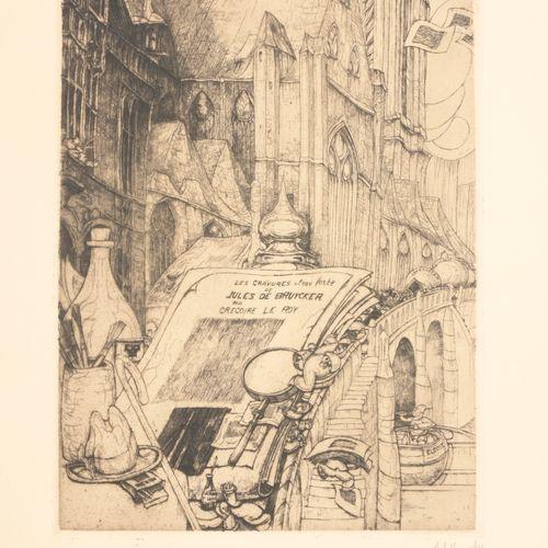 LE ROY, Grégoire L'oeuvre gravé de Jules De Bruycker  In 4° jésus (38 x 28 cm), …