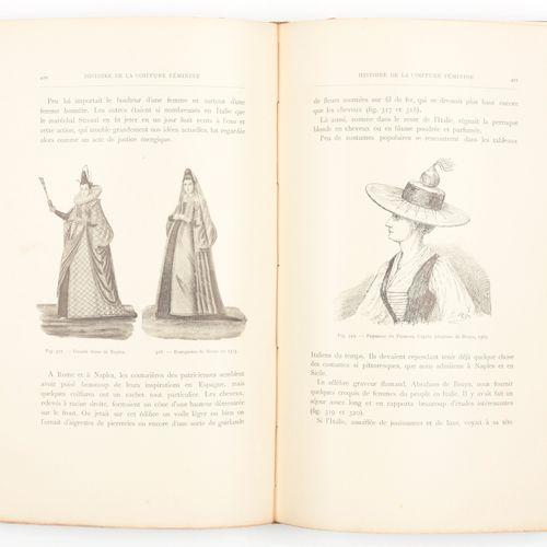 DE VILLERMONT, Contesse Marie Histoire de la coiffure féminine  4°, xiii, 822 pp…