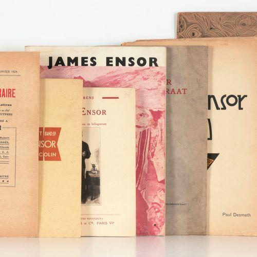 [ENSOR] La Flandre littéraire. Numéro qui est consacré à James Ensor Ostende 192…