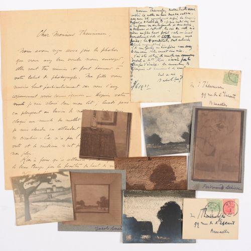 SMITS, veuve Jacob Correspondance à Jean Theunissen  1) carte postale, datée 10 …