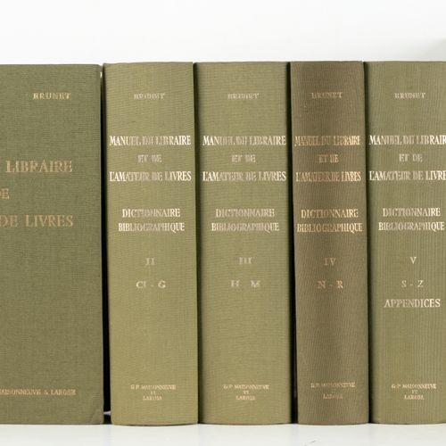 BRUNET, Jacques Charles Manuel du libraire et de l'amateur de livres  5 vol. In …