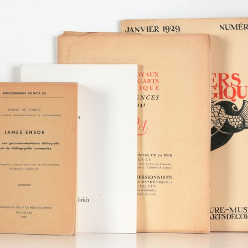 [ENSOR] DE FRANCE, Hubert James Ensor, proeve van gecommentariëerde bibliografie…