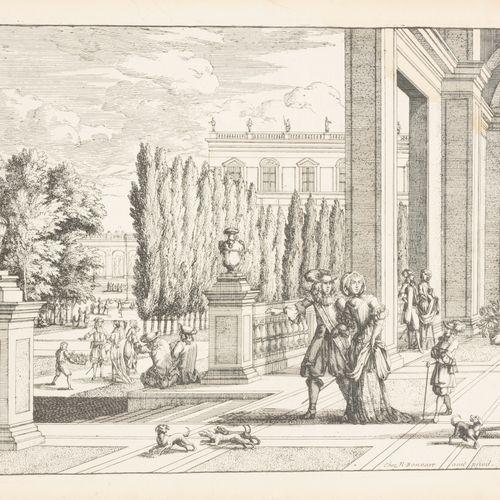 BONNART, Nicolas (c.1636 1718) Trois vues de jardins avec bâtiments  Gravures (c…