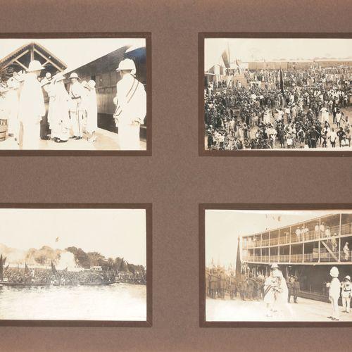 [FOTO'S CONGO] Album avec 96 photogr. Originales de la visite du Roi et la Reine…