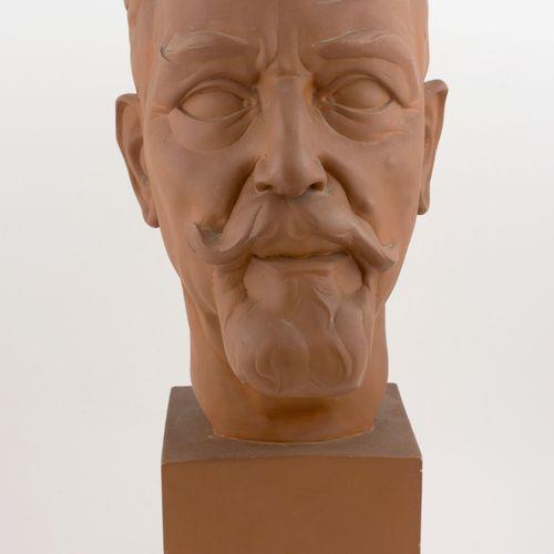 POELS, Albert (1903 1984) Buste van Ernest Claes  (1955) Plaasteren kop, terraco…