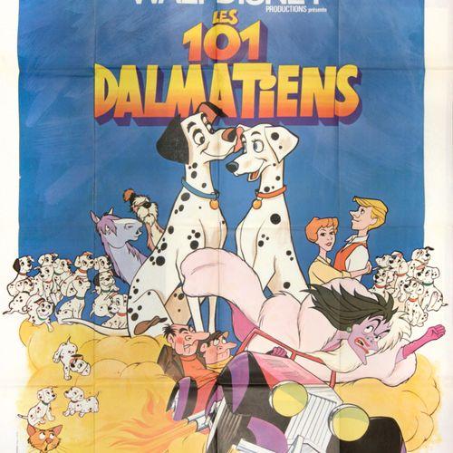 DISNEY, Walt (1901 1966) Les 101 Dalmatiens (1961)  Affiche (157 x 115 cm) en co…
