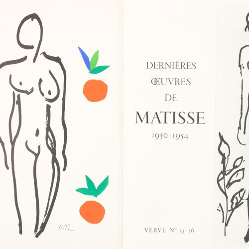 MATISSE 马蒂斯的最后作品 1950 1954 勇气(Verve 1958  In folio; Verve.艺术和文学评论,第九卷,第35/36号。第一…