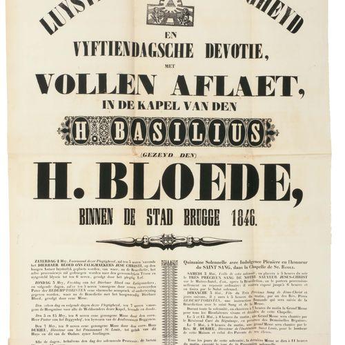 [Brugge] Verzameling van 29 affiches i.V.M. Heilig Bloed, Biljardwedstrijden, op…