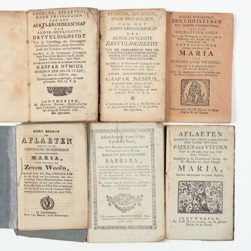 [ANTWERPSE DRUKJES] 14本带有Broederschappen的规则和条例的书籍  全部在安特卫普,一个在O.V. Van Scherpenh…