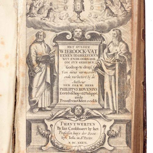 ROVENIUS, Philippus Het Gulden Wieroock vat,是一个独特的坚果,是对上帝之手的一种支持。  In 8°, [26] 4…